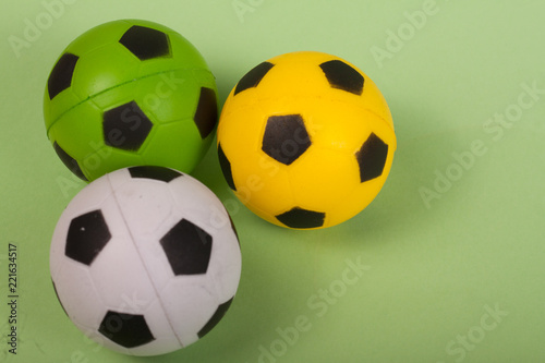Photo bolas de futebol brinquedo