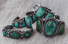 Four Antique Navajo Silver And...