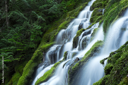 In de dag Watervallen Upper Proxy Falls
