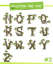 Tree Font.Twisted Tree  In The...