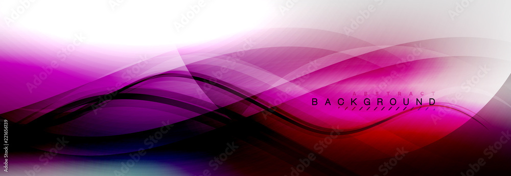 Fototapeta Smooth flowing wave motion concept background
