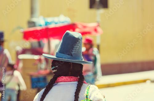 Spoed Foto op Canvas Centraal-Amerika Landen Peruvian people