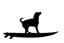 Vector Silhouette Of Dog With ...