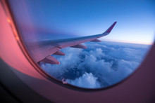 Sunset Sky From The Airplane W...