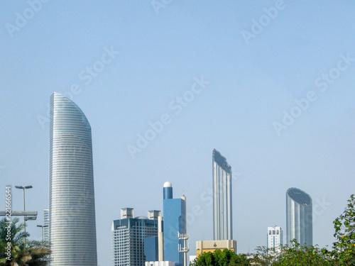 Abu Dhabi city skyline - beautiful corniche view