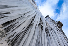 Lots Of Icicles Near Icelandic...