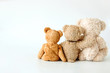 Friendship -Triplets teddy bear holding in one's arms