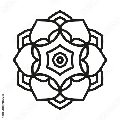 Simple Mandala Shape  Vector  - Buy this stock vector and