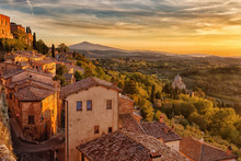 Tuscany,view From The Walls Of...