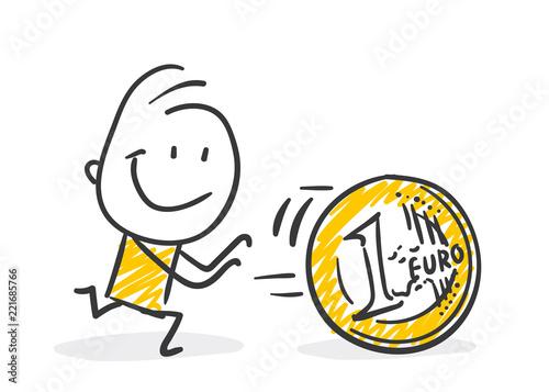 Strichfiguren Strichmännchen Euro Geld Nr 300 Kaufen Sie