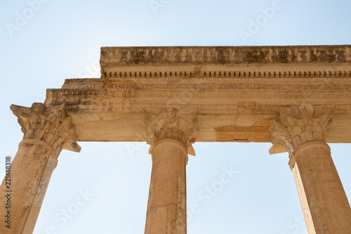 Foto op Aluminium Rudnes walls and columns of the school in the ancient 2nd century Lydian capital of Sardis