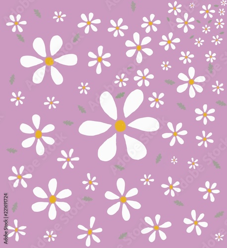Foto op Canvas Bloemen Flower pattern and vintage background wallpaper.