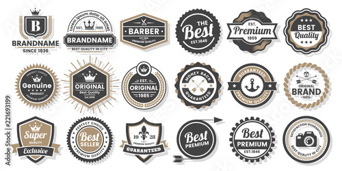 Foto Vintage Retro Vector Logo for banner