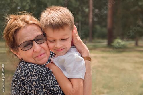 Photo Happy grandmother