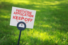 Pesticide Applicaton Sign With...