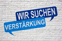 Wir Suchen Verstärkung - Jobsuche Und Bewerbung Graffiti
