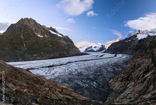 Sunrise over the Aletsch Glacier