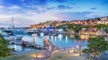 View Of Harbor And Village Porto Cervo, Sardinia Island, Italy