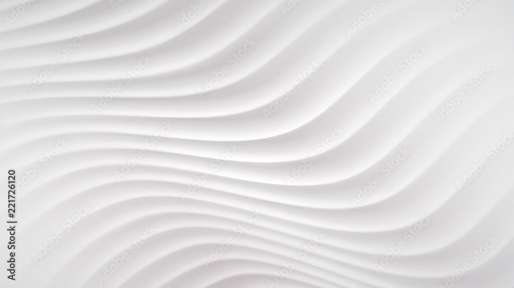 Abstract background with wavy lines in white colors