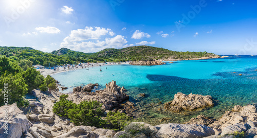 Photo  Spiaggia del Principe, amazing beach of Emerald coast, east Sardinia island, Ita