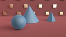 Abstract Scene Of Geometric Sh...