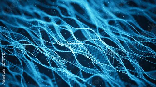 Fotografia  Molecular background with DNA