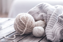 Home Hobbies, Cozy Knitted Swe...