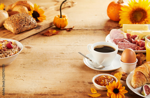 Healthy autumn breakfast borders