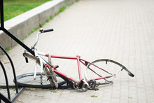 Broken Bicycle Without A Wheel...