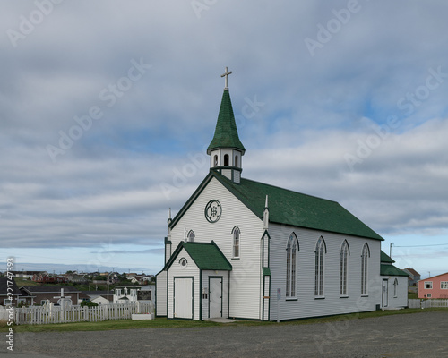 Exterior of the Saint Joseph's Catholic Church of Bonavista, Newfoundland
