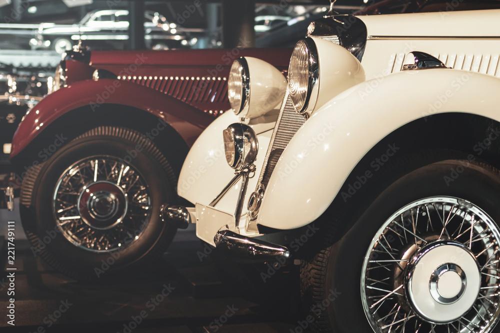 Fototapeta Retro cars at the exhibition