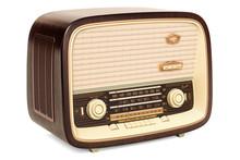 Vintage Radio Receiver Closeup, 3D Rendering