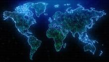 Global Travel And Computing Backdrop