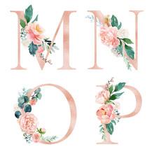 Floral Alphabet Set - Letters ...