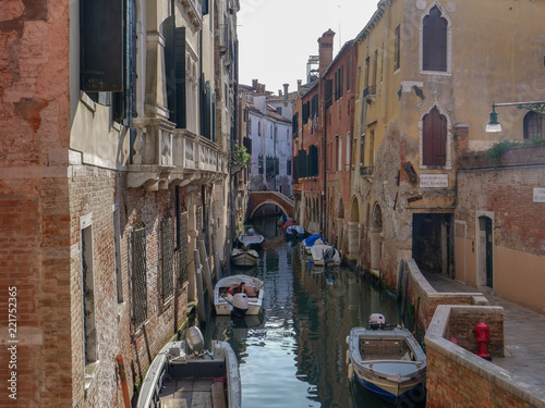 Recess Fitting Channel Venice, Italy, Venetian Canals in summer