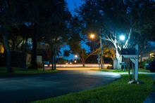 Neighborhood Street At Night I...