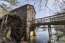 Historic Mill At Scenic Stone Mountain Park Near Of Atlanta, Georgia.