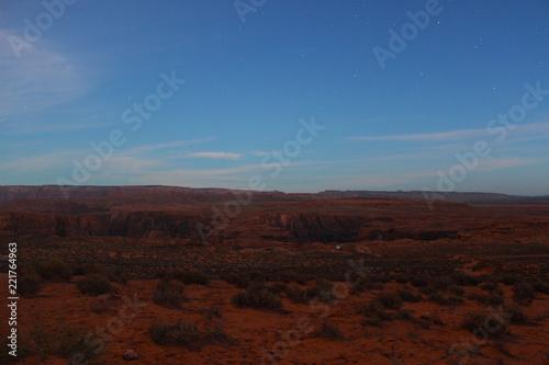Foto op Plexiglas Bruin Sternenklarer Morgen in der Wüste Arizonas