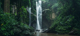 Fototapeta  - Waterfall Waterfall in nature travel mok fah waterfall