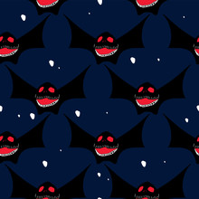 Halloween Cute And Trendy Popular Pattern With Seamless Bat Multicolor Childish Style For Fashion And Textile Print.