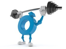 Male Gender Symbol Character Lifting Heavy Barbell