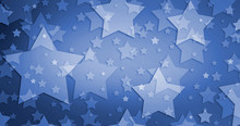 July 4th Background Design With White Stars On Blue Background In Patriotic Pattern