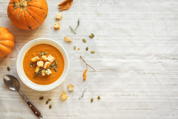 Fototapeta Pumpkin soup