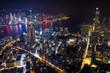 Top view of Hong Kong night