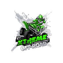 Quad Bike Off-Road ATV Logo, E...