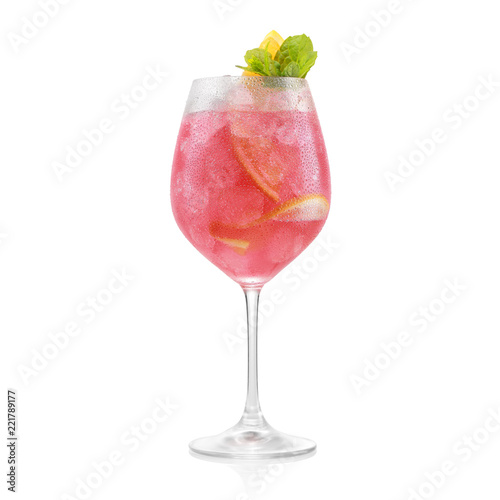 Tableau sur Toile red cocktail with strawberry