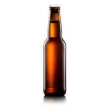 Beer Bottle On A White Background