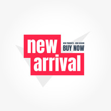 New Arrival Buy Now Label