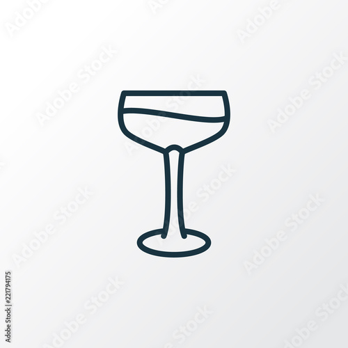 Fotografie, Obraz  Cocktail glass icon line symbol