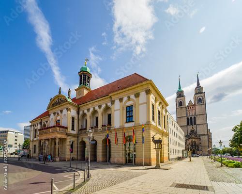 Keuken foto achterwand Oude gebouw Magdeburg